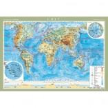 Физическая карта мира 158х108 на планках