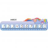 Стенд линейка чисел и цифр НУШ 06003