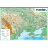 Физическая карта Украины 145х100 на планках