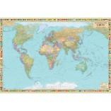 Политическая карта мира 158х108 на планках