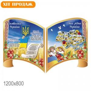 Cимволика с картой КС 30315 -    Стенды символика Украины