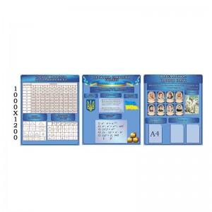 """Блакитний комплект """"Цариця наук"""" -    Стенди для кабінету математики    Комплексне оформлення класу"""