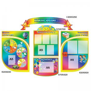 Комплекс стендов Наш класс цветной -    Классные уголоки     Комплексное оформление класса    Стенды для НУШ