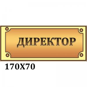 """Табличка """"Директор"""" коричневая  -    Информационные таблички    Таблички на двери кабинета"""