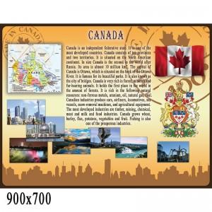 """Стенд для кабінету англійської мови """"Канада"""" -    Стенди в кабінет англійської мови"""