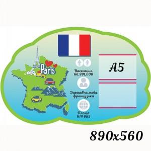 """Стенд французский язык """"Фигурный облако"""" -    Стенды французский язык"""