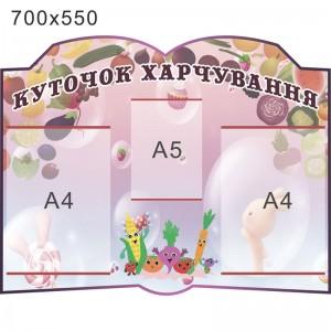 "Стенд ""Уголок питания"" КС 0774 -    Уголок питания    Стенды для столовой"