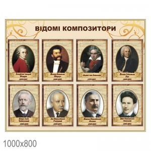 Плакат композиторів -    Стенди з народознавства