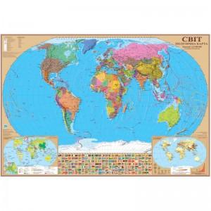 Политическая карта мира 98х68 -    Карты мира