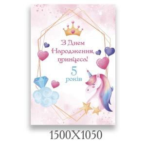 Плакат на день народження кс 000603 -    Банер на день народження