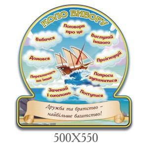 Стенд круг вибора нуш 000630 -    Круг выбора    Стенды для школы до 300грн