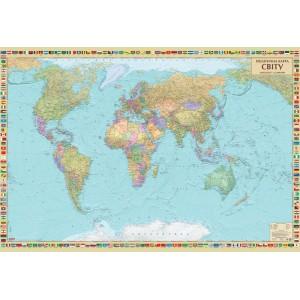Политическая карта мира 158х108 -    Карты мира