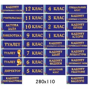 """Комплекс табличек для школы """"Патриотический"""" -    Таблички на двери кабинета"""