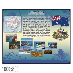 "Плакат Английский язык ""Австралия"" -    Плакаты для кабинета английского языка"