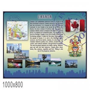 """Плакат в кабинет английского языка """"Канада"""" -    Плакаты для кабинета английского языка"""