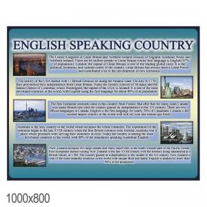 """Плакат в кабинет английского языка """"англоговорящие страны"""" -    Плакаты для кабинета английского языка"""