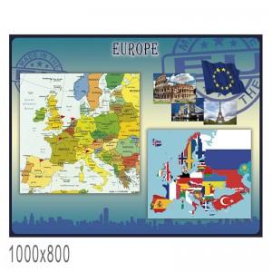 "Плакат в кабинет английского языка ""Европа"" -    Плакаты для кабинета английского языка"
