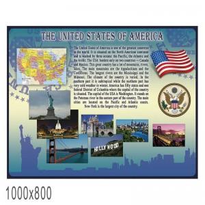 """Плакат в кабинет английского языка """"Америка"""" -    Плакаты для кабинета английского языка"""