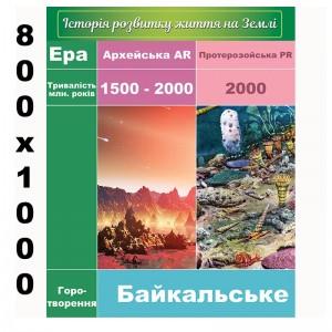 """Плакат """"История развития жизни на земле"""" -    Плакаты для кабинета биологии"""
