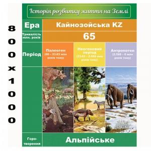 """Плакат по биологии """"Кайнозойская эра"""" -    Плакаты для кабинета биологии"""