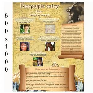 """Плакат по географии """"Расы людей мира"""" -    Плакаты для кабинета географии"""