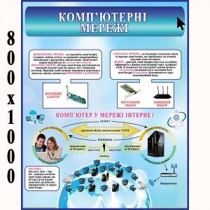 """Плакат """"Комп'ютерні мережі"""" -    Плакати з інформатики"""