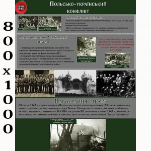"""Плакат з історії """"Польсько-Український конфлікт"""" -    Плакати для кабінету історії"""