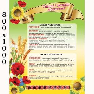 "Плакат ""Стили и жанры речи"" -    Плакаты для украинского языка и литературы"