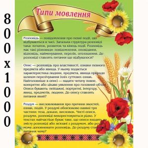 "Плакаты ""Типы речи"" -    Плакаты для украинского языка и литературы"