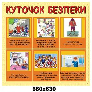 Стенд Куточок безпеки дитячий -    Стенди для кабінету БЖД