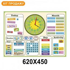 Магнітний календар (мова англійська) -    Стенди для НУШ