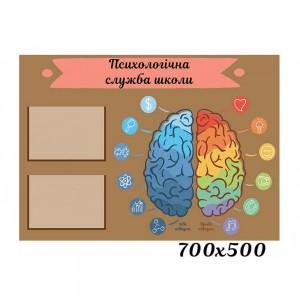 Стенд для психологічної служби школи -    Стенди куточок психолога