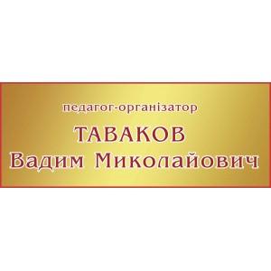 Табличка Педагог-организатор -    Информационные таблички    Таблички на двери кабинета