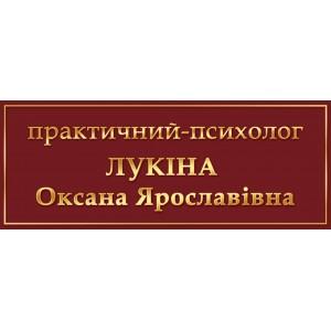 Табличка Практический-психолог -    Информационные таблички    Таблички на двери кабинета