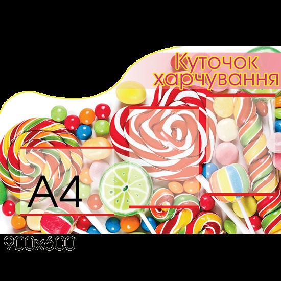 Стенд Уголок питания конфеты
