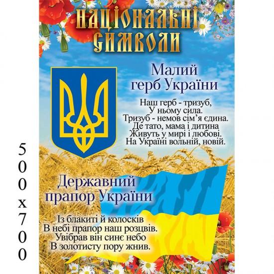 Стенд Символіка України вертикальний
