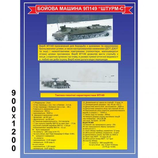 """Стенд """"Бойова машина 9П149 Штурм-С"""""""