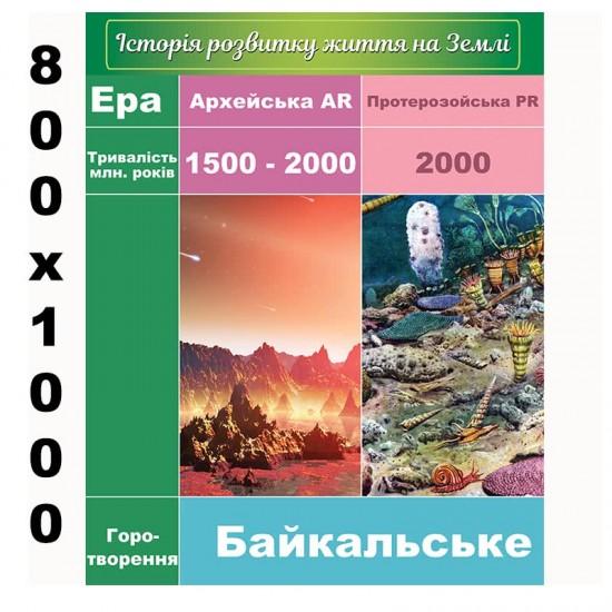 """Плакат """"Історія розвитку життя на землі"""""""