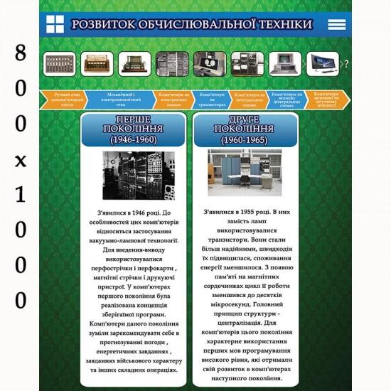 """Плакат """"Розвиток обчислювальної техніки"""""""