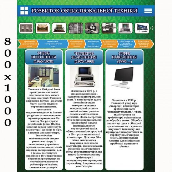 """Плакат """"Розвиток обчислювальної техніки""""2"""