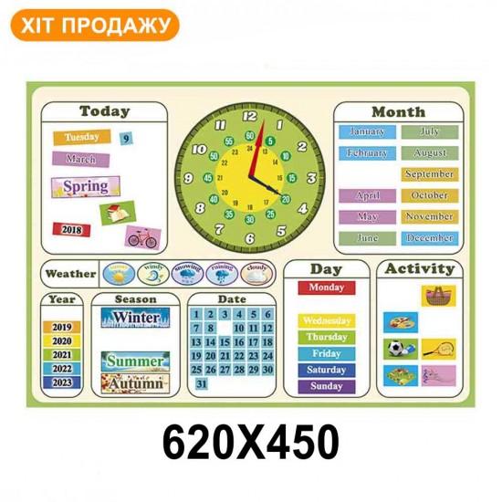 Магнітний календар (мова англійська)