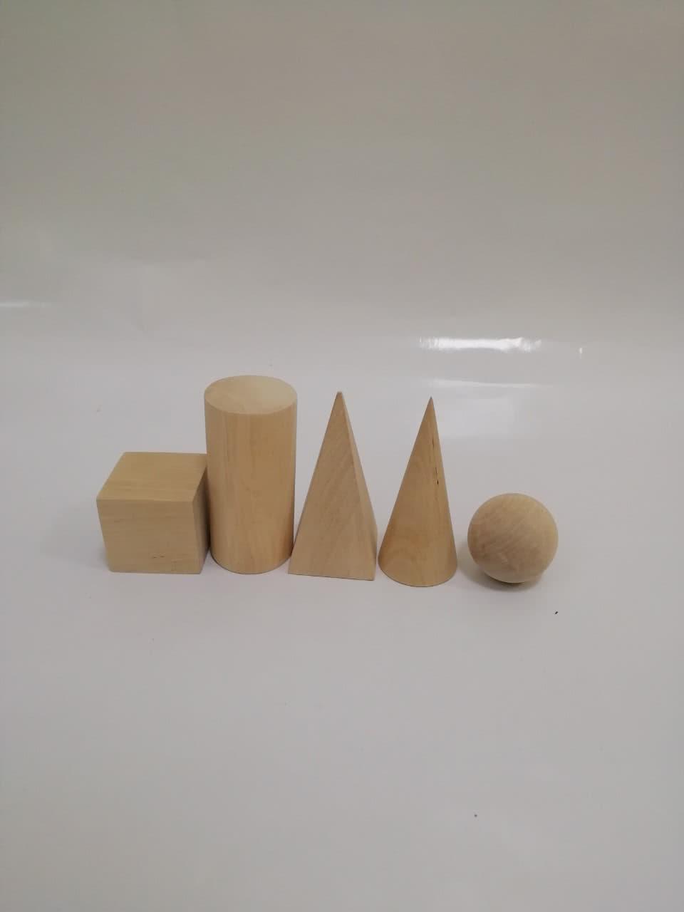 Набір моделей геометричних тіл та фігур (дерев'яні)