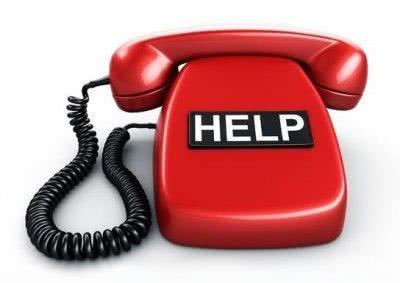 Стенди з телефонами служб порятунку